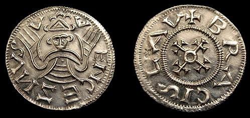 Bretislaus I Denarius Bohemia 1034-1055 fine silver replica coin