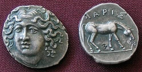 Larissa Drachm Greece 350-325 BC fine silver replica coin