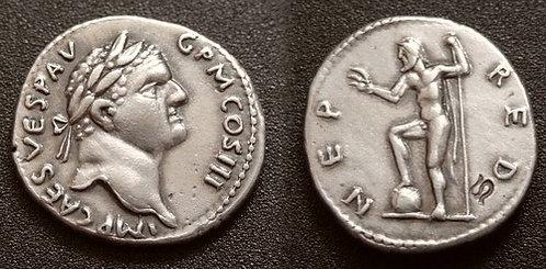 Vespasian Denarius Rome 69-79 AD fine silver replica coin