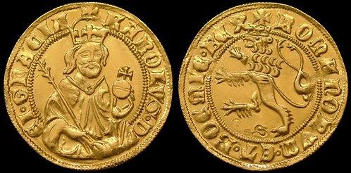 Charles IV Ducat Bohemia 1346-1378 fine gold replica coin