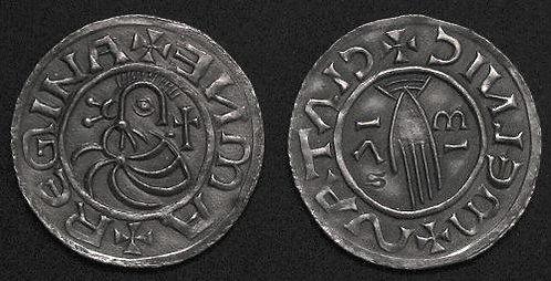 Emma Regina Denarius Bohemia +1006 fine silver replica coin
