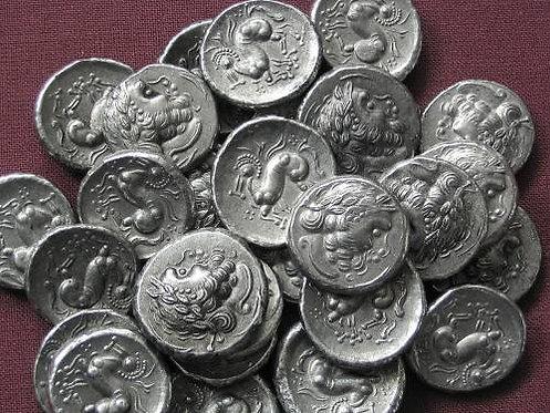 Celtic Drachm Danube area 3rd-2nd century BC tin replica coin