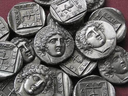 Amphipolis Tetradrachm Greece 410-357 BC tin replica coin