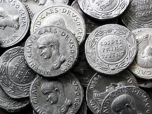 Nero Cistophorus Rome 54-68 AD tin replica coin