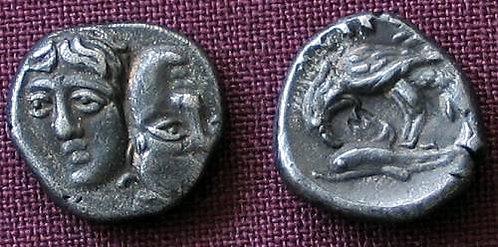 Istros Trihemiobol Greece 400-320 BC fine silver replica coin