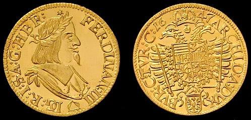 Ferdinand III Ducat Moravia Brno 1637-1657 fine gold replica coin