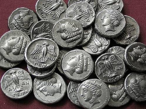 Amisos Drachm Greece 400-350 BC tin replica coin
