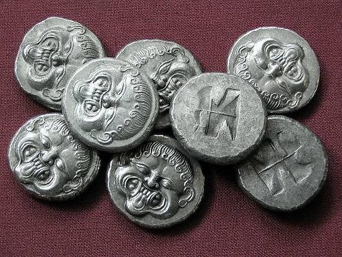 Neapolis Stater Greece 510-480 BC tin replica coin