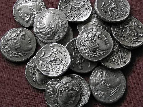 Alexander the Great Drachm Greece posthumous issue tin replica coin