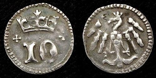 Iobst of Luxembourg Denarius Penny Moravia Brno 1375-1411 fine silver replica co