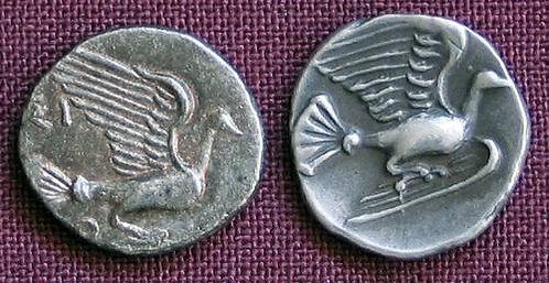 Sikyon Obol Greece 430-390 BC fine silver replica coin