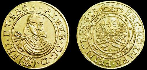 Albrecht von Wallenstein Ducat Bohemia 1625-1634 brass replica coin