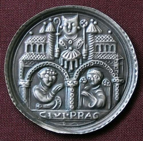 Prague Bracteat medallion fine silver