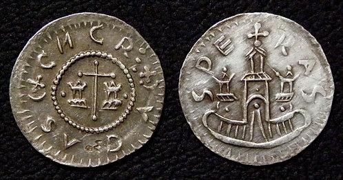 Conrad I Denarius Moravia Brno 1061-1092 fine silver replica coin