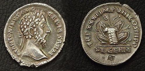 Marcus Aurelius Denarius Rome 161-180 AD fine silver replica coin
