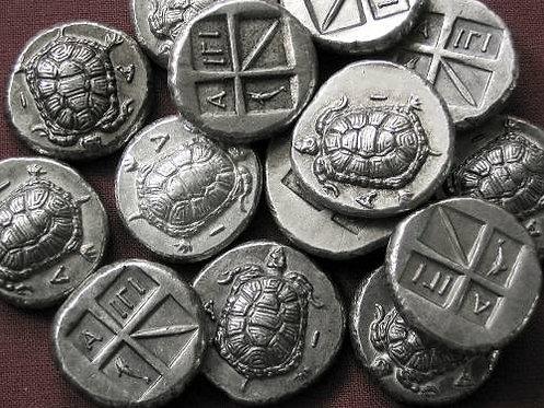 Aigina Stater Greece 404-340 BC tin replica coin
