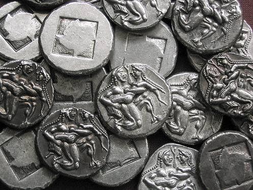 Thasos Stater Greece 510-490 BC tin replica coin