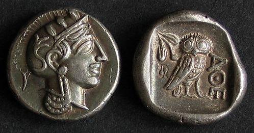 Athens Drachm Greece 5th century BC fine silver replica coin