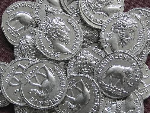 Marcus Aurelius Denarius Rome 161-180 AD tin replica coin