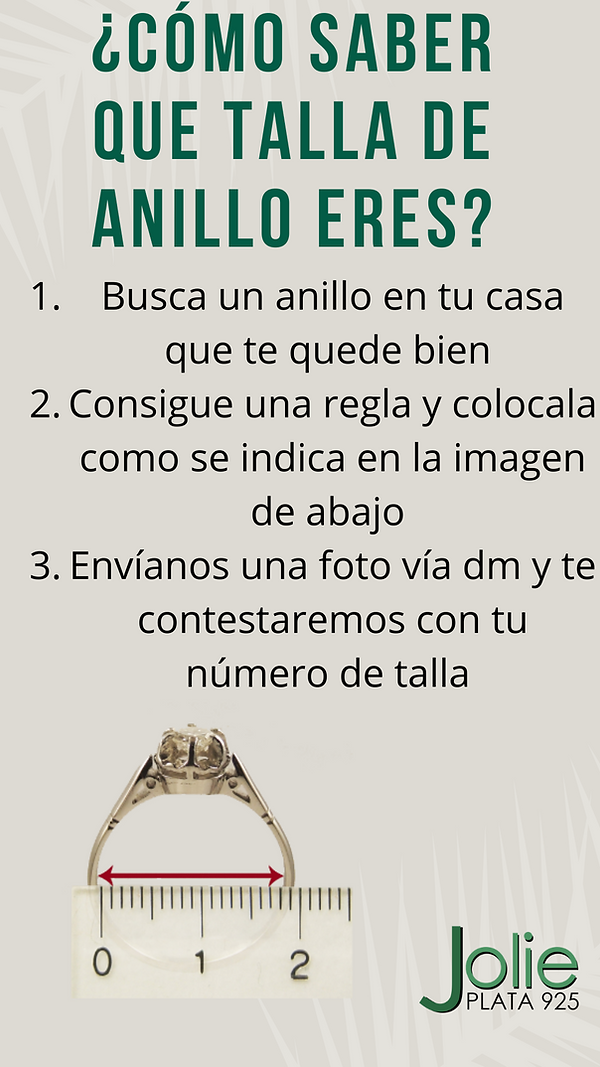 ¿Cómo saber que talla de anillo eres?