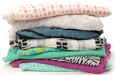 Mending/hemming of scarves, sheets, duvet covers, including button replacement.
