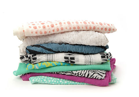 Pile of Scarves