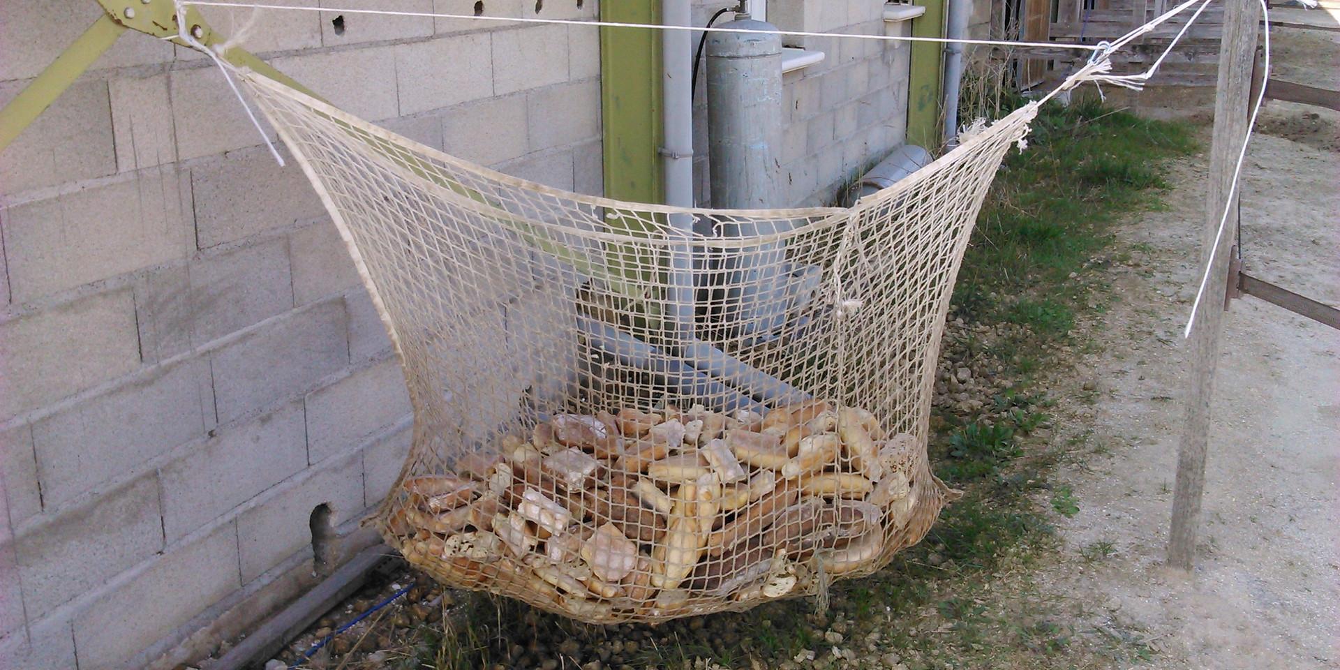 Séchoir à pain improvisé