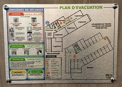 Plan d'évacuation installé