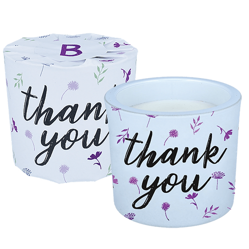 Thank You Wrapped Candle
