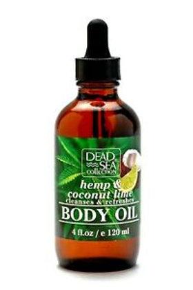 Dead Sea Collection - Hemp & Coconut Lime Body Oil