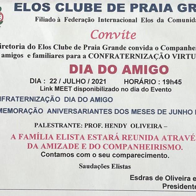 Dia do Amigo - Elos Clube de Praia Grande