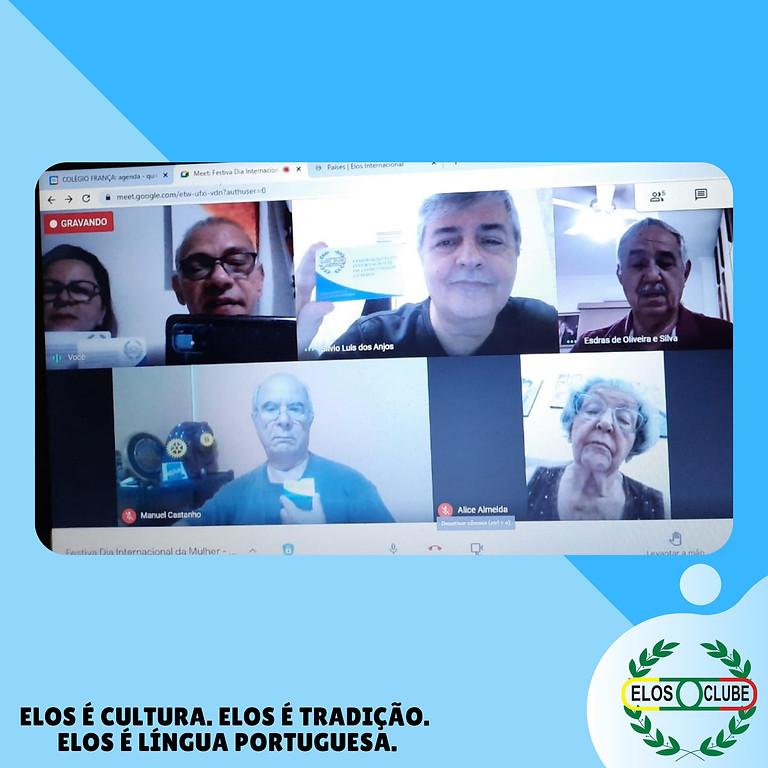 Reunião Virtual do Elos Clube de Praia Grande em homenagem ao Dia Internacional da Mulher!