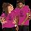 Thumbnail: Red/Pink VooDoo Short-Sleeve Unisex T-Shirt