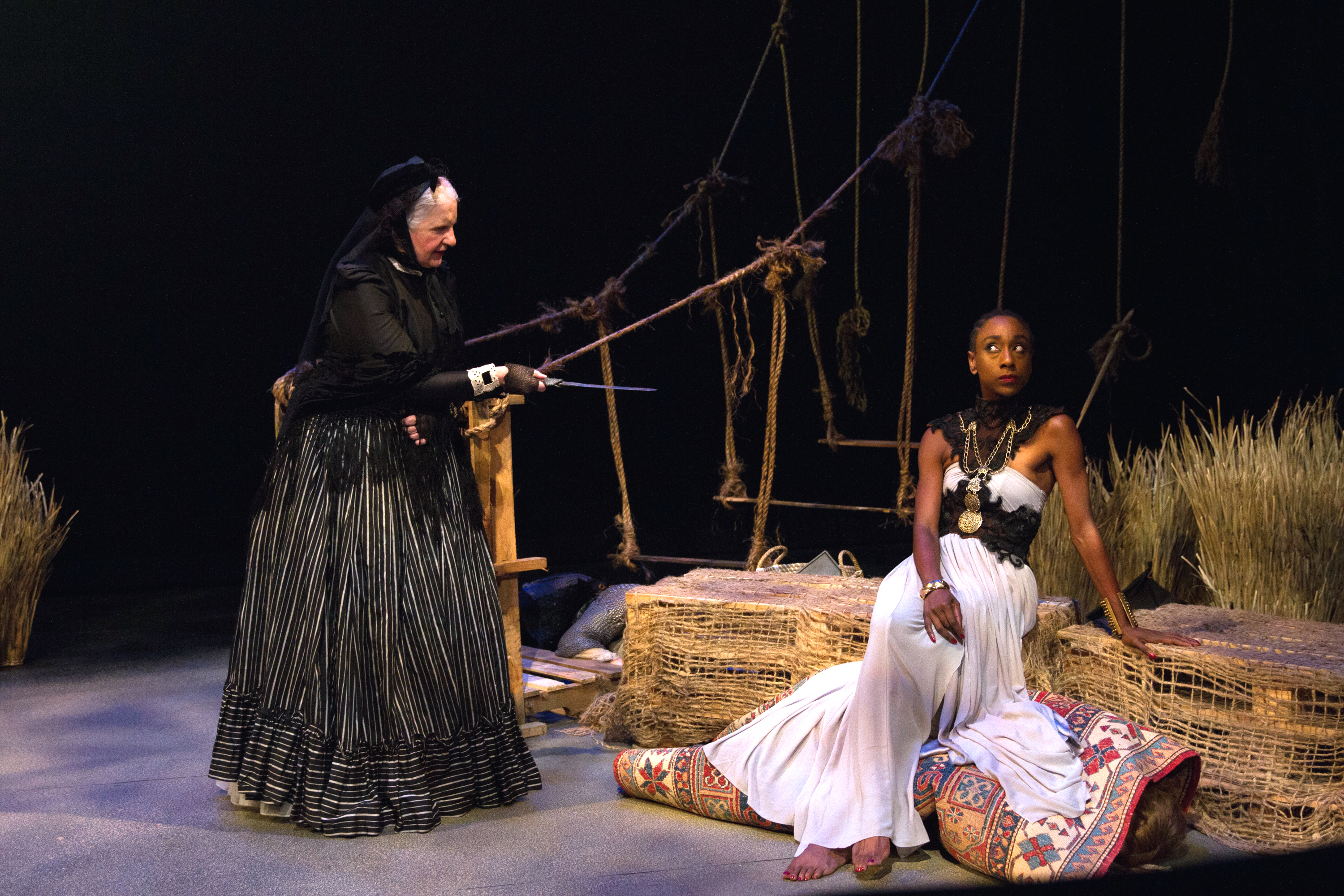 Madalyn McKay as Queen Victoria, Nylda Mark as Cleopatra and Amanda Jones as Anais Nin_Photo by Jody
