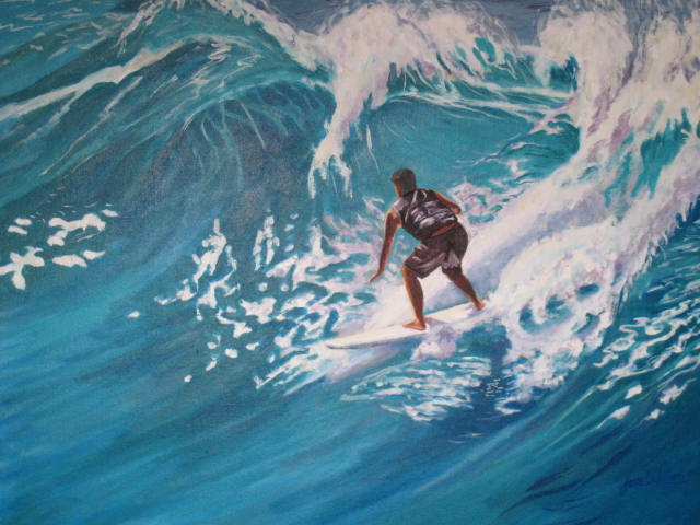 Hawaii Surfer.