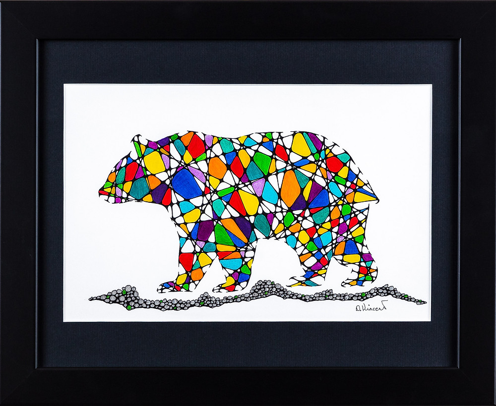 Debra Vincent - Stained Glass Bear