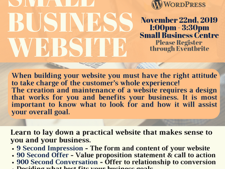 Encore Performance - Website Workshop at the Small Business Centre