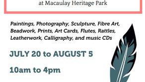 Indigenous Artists Exhibit and Sale - Macaulay Heritage Park