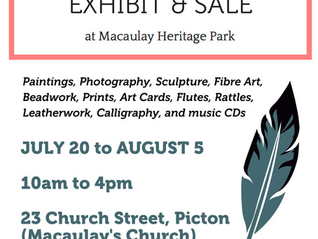 Indigenous Artists Exhibit and Sale - Macaulay Heritage Park