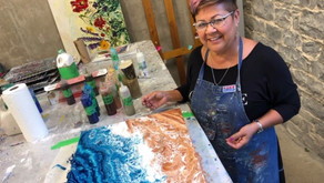 Paint Pouring at Glocca Morra Farms & Studios
