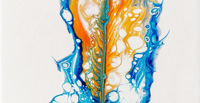 Paint-Pouring Feathers and More Ideas