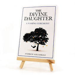 The Divine Daughter Book on stand angle