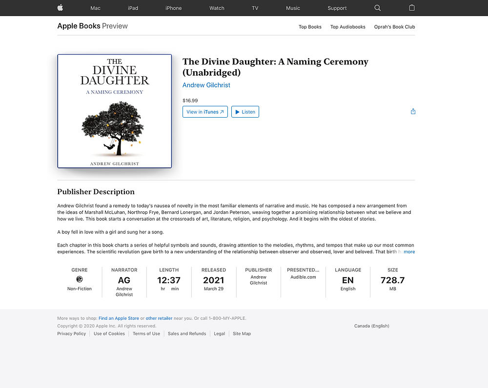 The Divine Daughter on iTunes - Screen Shot