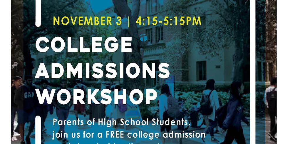College Admission Workshop