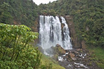 Waitomo, Vandfald, Marokopa Falls, Natur i New Zealand