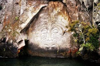 Kultur i New Zealand, Maori, Stenskæringer, Lake Taupo, Mine Bay