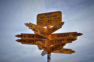 Bluff, Verdens sydligste punkt, alle veje fører fra, New Zealand