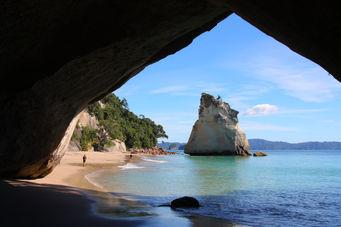 Natur i New Zealand, Strand i New Zealand, Coromande, Cathedral Cove