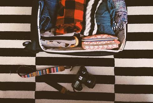 Valise prête pour partir à l'aventure en Amérique du Sud