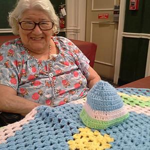 Knitting group at Foxchase Nursing Home